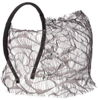 Maison Michel Anastasia Lace Headband - Womens - Black