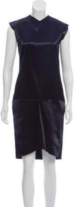 Celine Satin Fray-Trimmed Dress