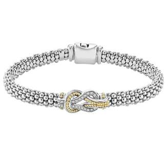 Lagos 'Newport' Diamond Knot Bracelet