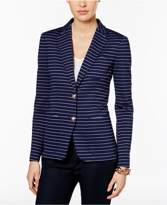 Tommy Hilfiger Striped Two-Button Blazer $129 thestylecure.com
