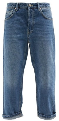 Raey - Dad Baggy Boyfriend Jeans - Womens - Dark Blue