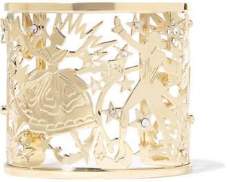 Etro Gold-tone Crystal Cuff