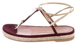 Marni Suede Espadrille Sandals