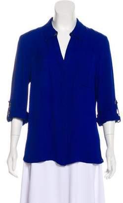 Diane von Furstenberg Silk Button-Up Blouse