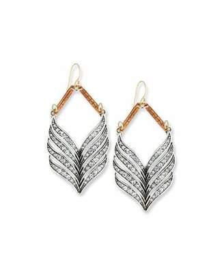Lulu Frost Symmetry Crystal Statement Earrings $225 thestylecure.com