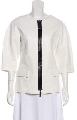 Longchamp Linen Short Sleeve Jacket