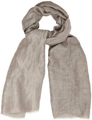 Reiss MILO Wool blend metallic scarf