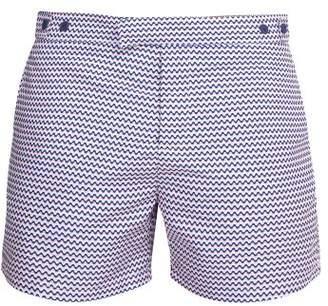 Frescobol Carioca - Copacabana Print Tailored Swim Shorts - Mens - Pink Multi