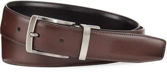 Original Penguin Burnished Leather Reversible Belt, Brown