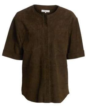 Frame Women's Suede Walking Tunic - Moroccan Olive - Size XS