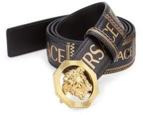 Versace Medusa Printed Leather Logo Belt