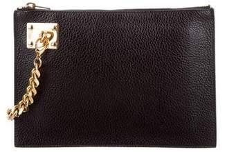 Sophie Hulme Leather Zip Wristlet