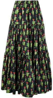La Doublej Can Can print maxi skirt