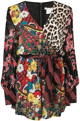 ee0e3b77b1 Alice + Olivia Alice+Olivia Nelia multi-print playsuit