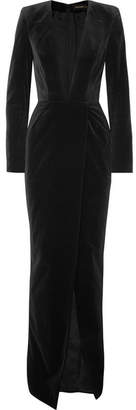 Alexandre Vauthier Cotton-velvet Gown - Black