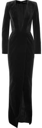 Alexandre Vauthier Cotton-velvet Gown - Black