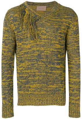 Federico Curradi fringe detail two tone sweater