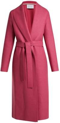 Harris Wharf London Belted pressed-wool coat