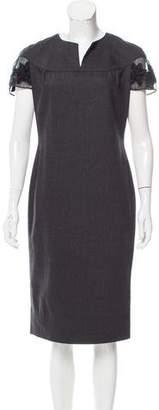 Blumarine Wool Midi Dress