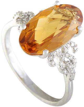 Generic Gemstones 14K 0.17 Ct. Tw. Diamond & Citrine Ring