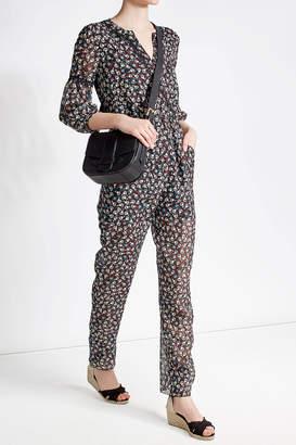 Anna Sui Printed Silk Chiffon Jumpsuit