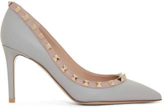 5e94443730b Valentino Grey Garavani Rockstud Heels