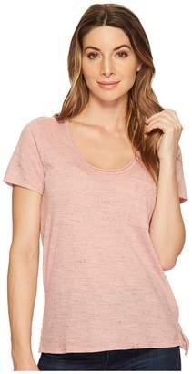 Three Dots Short Sleeve Pocket Tee Women's Short Sleeve Pullover