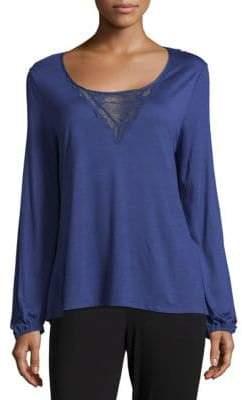 Eberjey Goya Long-Sleeve Lace Top
