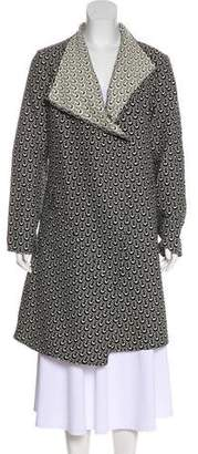 Zero Maria Cornejo Patterned Knee-Length Coat