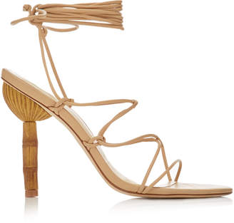 Cult Gaia Soleil Lace Up Leather Sandals