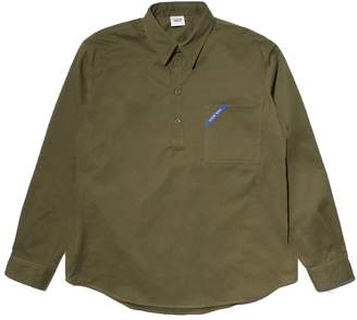 Buttoned Down Know Wave call sign pullover shirt