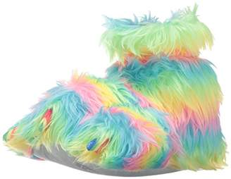 Trimfit Girls Plush Fuzzy Paw Slippers Moccasin