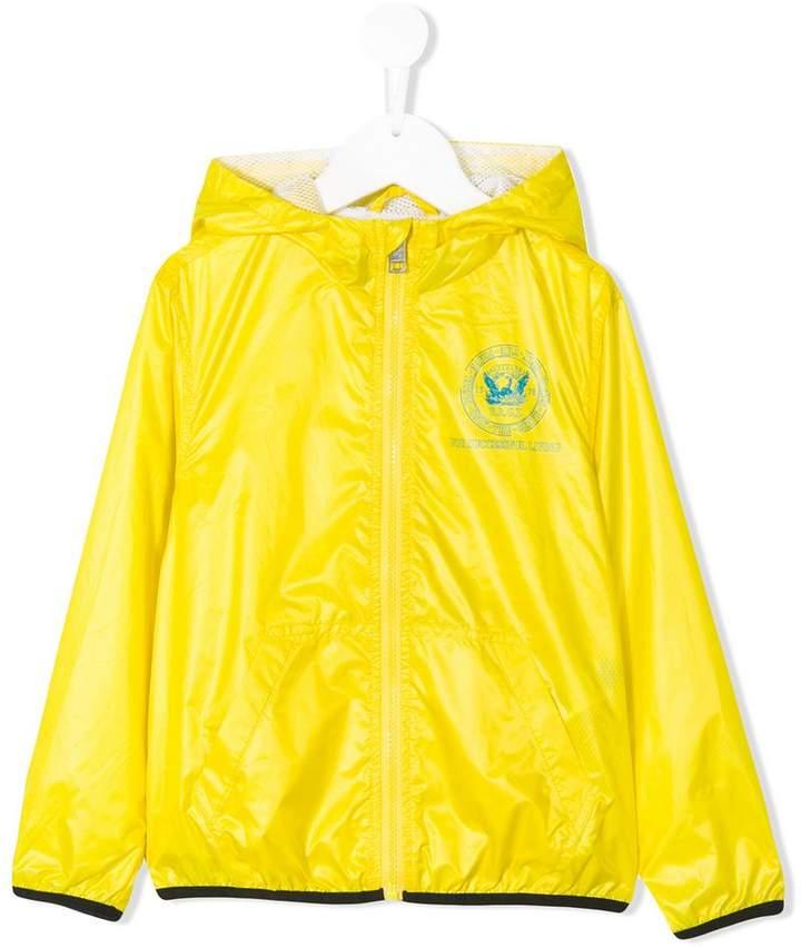 hooded rain jacket