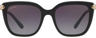 Bulgari oversized square frame sunglasses
