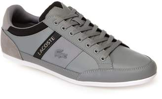 Lacoste Mens Chaymon Tonal Nappa Leather and Suede Trainers