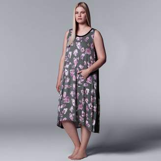Vera Wang Plus Size Simply Vera Long Chemise