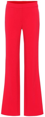 Carolina Herrera High-rise wide-leg wool-blend pants