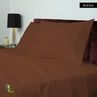 Living & Co 600TC 100% Egyptian Cotton 4PCs Sheet Set Solid(Pocket Size: 11 inches)