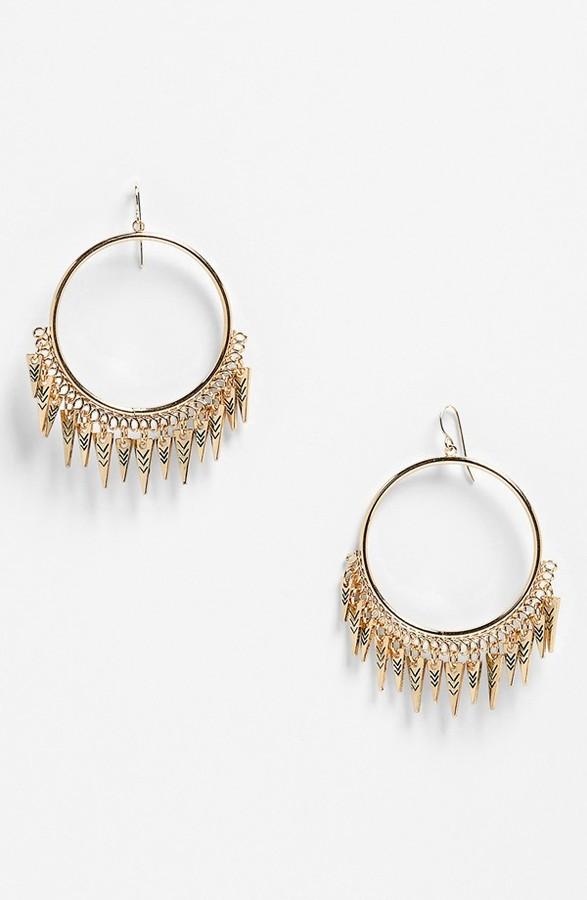 Free Spirit Devan 'Free Spirit' Hoop Earrings Gold