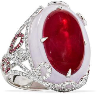 Martin Katz 18-karat White Gold Multi-stone Ring