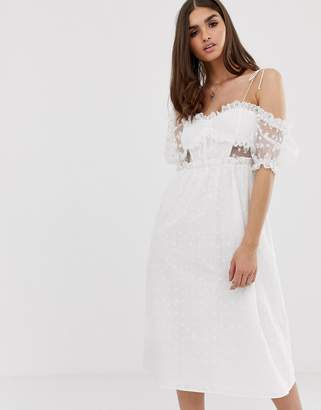 For Love & Lemons Sadie midi dress