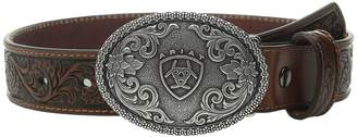 Ariat Embossed Oval Shield Buckle Belt Men's Belts