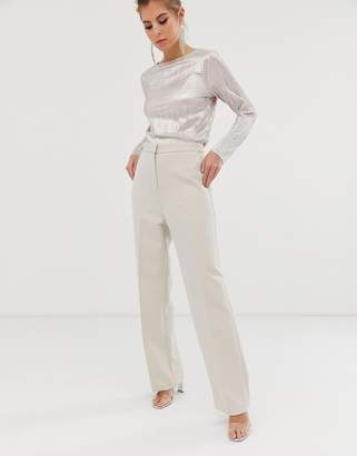 Asos Design DESIGN slim wide suit pants