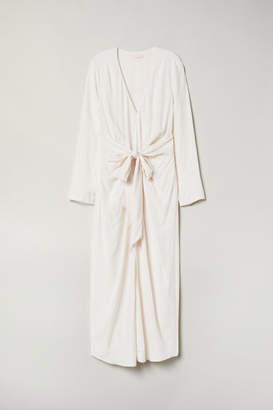 H&M Dress with Tie Belt - Beige