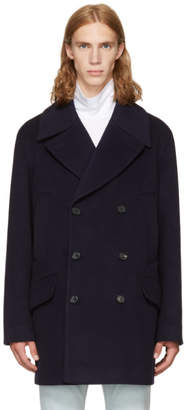 Acne Studios Navy Murray Coat