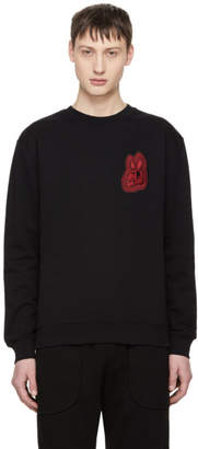 McQ Black Bunny Be Here Now Sweatshirt