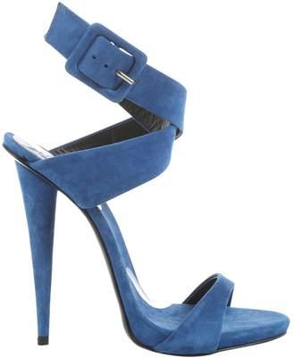 Giuseppe Zanotti Blue Suede Sandals
