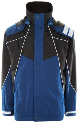 Sandro Two-Tone Hooded Coat