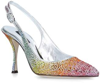 560e2d28ec0 Dolce   Gabbana Crystal-Covered Slingback Pumps 90