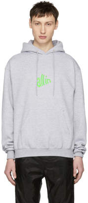 all in SSENSE Exclusive Grey and Green Signal Hoodie